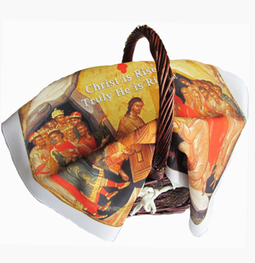 Christ is Risen (English) Pascha Basket Cover