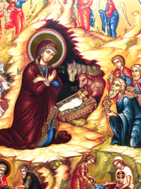 Nativity of Christ Foil Icon- XL