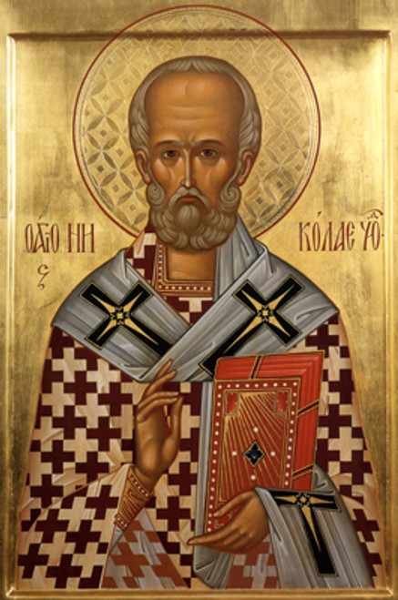 St. Nicholas Icon- Standing Panel