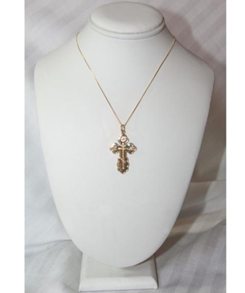 10KYG St. Olga Style Cross- Extra Large