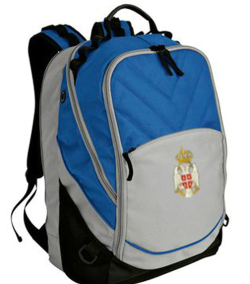 Embroidered Serbian Grb Computer Backpack- Personalized