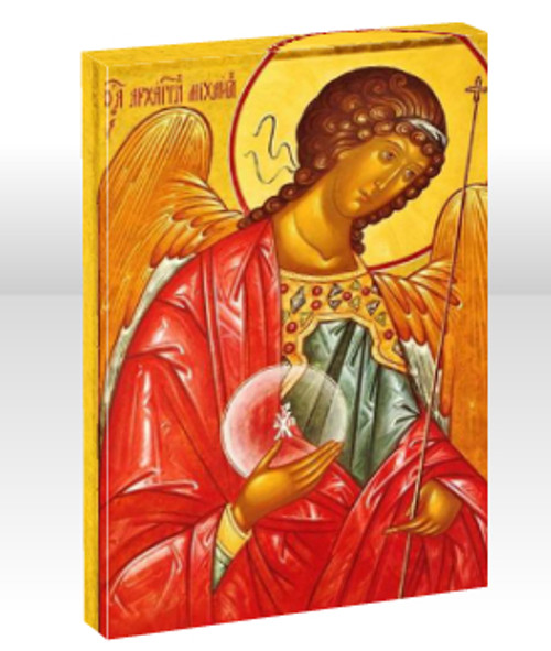 "St. Archangel Michael 11 x 14"" Mounted Canvas (1 1/2"" Thick)"