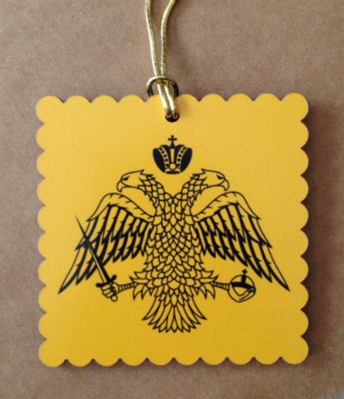 Byzantine Eagle Square Acrylic Ornament