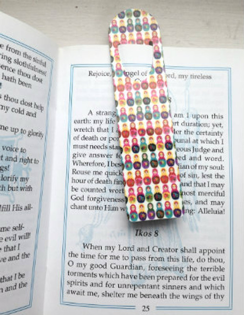 Printed Metallic Bookmark: Matryoshka Design