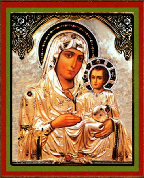 """Virgin of Jerusalem Gold Foil Icon 2 1/2"""" x 3""""- Set of 25"""