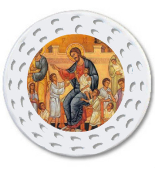 Christ Blessing the Children Dual Sided Icon Ornament