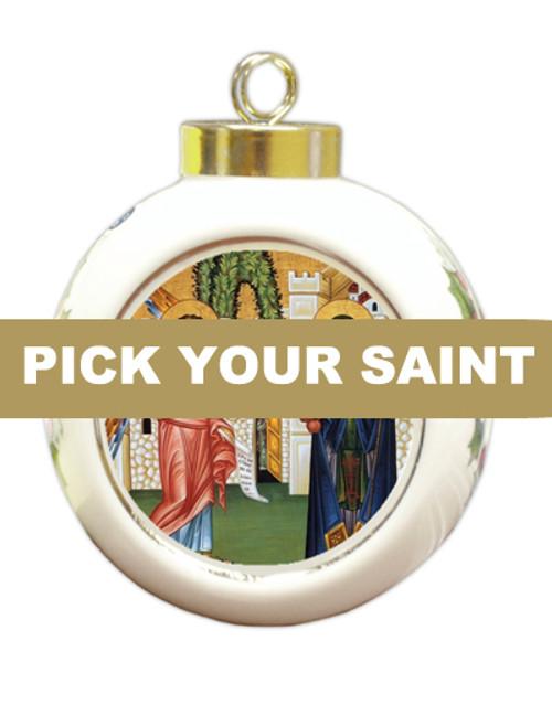 Pick-Your-Saint Ceramic Bulb Ornament
