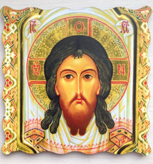 "Icon of Christ ""Made Without Hands"" Thick Acrylic Icon Magnet"