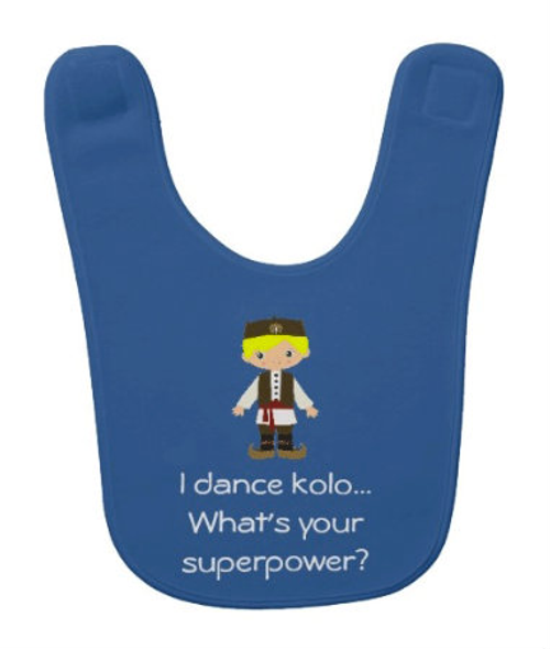 Serbian Dancer Baby Bib: Boy