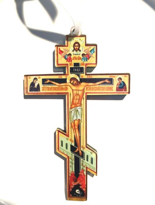 Three-Bar Orthodox Acrylic Die-Cut Ornament