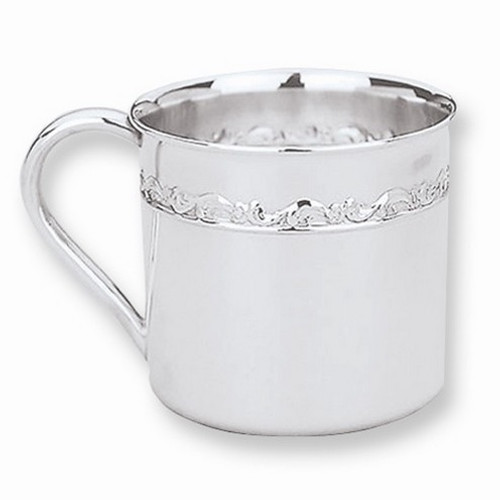 Engravable Sterling Silver Baby Cup