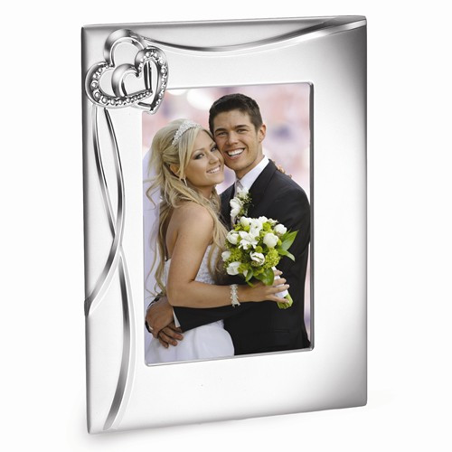 Engravable 8 x 10 Photo Wedding Frame with Heart Accents