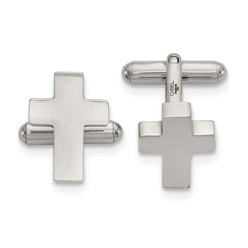 Stainless Steel Cross Cuff Links