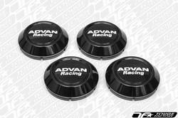 Advan Racing Center Cap 63 Low Type- Black