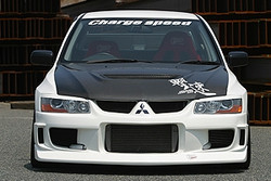 Charge Speed OEM Style Hood: Carbon - Mitsubishi EVO 8