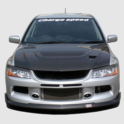 Charge Speed Bottom Line Front Lip: Carbon - Mitsubishi EVO 9