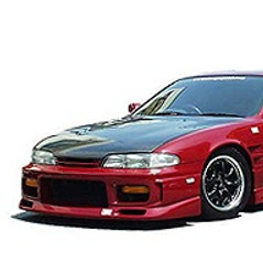 Charge Speed Zenki Front Fenders (Pair): 20mm Wide Body, FRP Material - Nissan 240SX S14