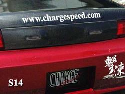 Charge Speed Zenki / Kouki Carbon Fiber Trunk - Nissan 240SX S14