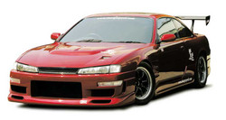 Charge Speed Vented, FRP Hood - Nissan 240SX S14