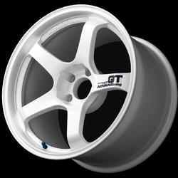Advan GT 18x10.0 - 5x114.3 - Semi-Gloss Black / Racing White