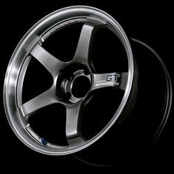 Advan GT 18x8.0 +45 - 5x114.3 - Racing Metal Black with Machined Lip