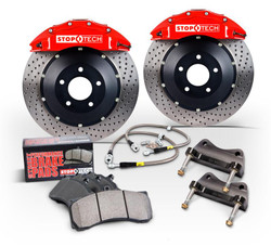 Stoptech Front ST40 Big Brake Kit - Slotted Rotors - Subaru WRX/ STi 2008-12