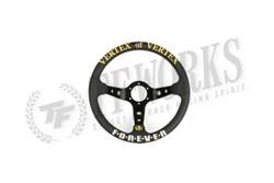 Vertex Forever 330mm Steering Wheel Black Leather