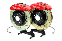 Brembo Red Drilled Rear Big Brake Kit 328x28mm - 03-06 Mitsubishi Evolution 8/9