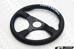 KEY'S RACING Flat Type Steering Wheel (350mm/Leather)