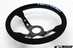 KEY'S RACING Deep Type Steering Wheel (350mm/Suede)