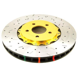 DBA 5000 Series Drilled and Slotted Disc Front Brake Rotors - 08-11 Mitsubishi Evolution X