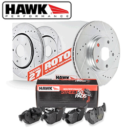 Hawk Rear Brake Rotor with HPS 5.0 Pad Kit - 86-91 Mazda RX-7
