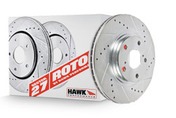 Hawk Front Brake Section 27 Rotor w/ PC Pads Kit - 94-00 Mazda Miata