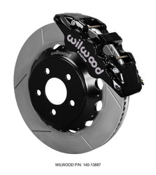 Wilwood 6-Piston AERO6 Big Brake Kit - 2015 S550 Mustang GT Front (Black Calipers)