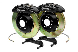 Brembo GT Black Rear Slotted 6-Piston Big Brake Kit 345x28mm - 2006 Lexus GS300, 06-13 Lexus IS250