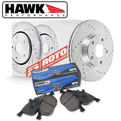Hawk Performance Front Brake Rotor with HPS Pad Kit - 06-13 Lexus IS250