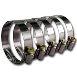 """Stainless Steel Screw Worm Clamp - 2.25"""""""