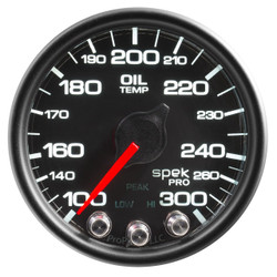 AutoMeter Spek-Pro Black - Oil Temp 52mm