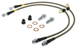 StopTech Stainless Steel Front Brake Lines 2015 Ford Mustang GT w/ Performance Package