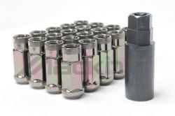 Wheel Mate Monster Open End Lug Nuts M14x1.50 (Set of 20) - Black Chrome