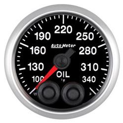 Auto Meter Elite Oil Temperature Gauge 52mm 100-340ºF