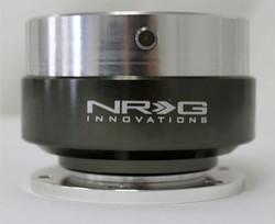 NRG Gen 1.0 Quick Release- Silver Body/ Black Chrome Ring