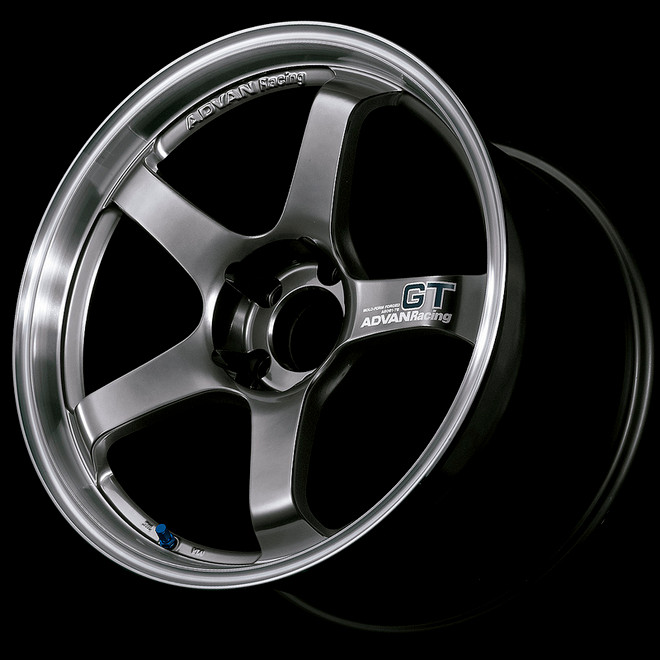 Advan GT 18x8.0 +45 - 5x114.3 - Racing Metal Black with Machined Lip