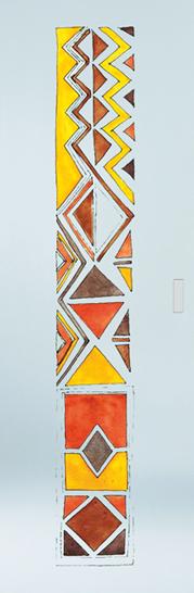 Classic Glass Pocket Door System Handpainted AFRO
