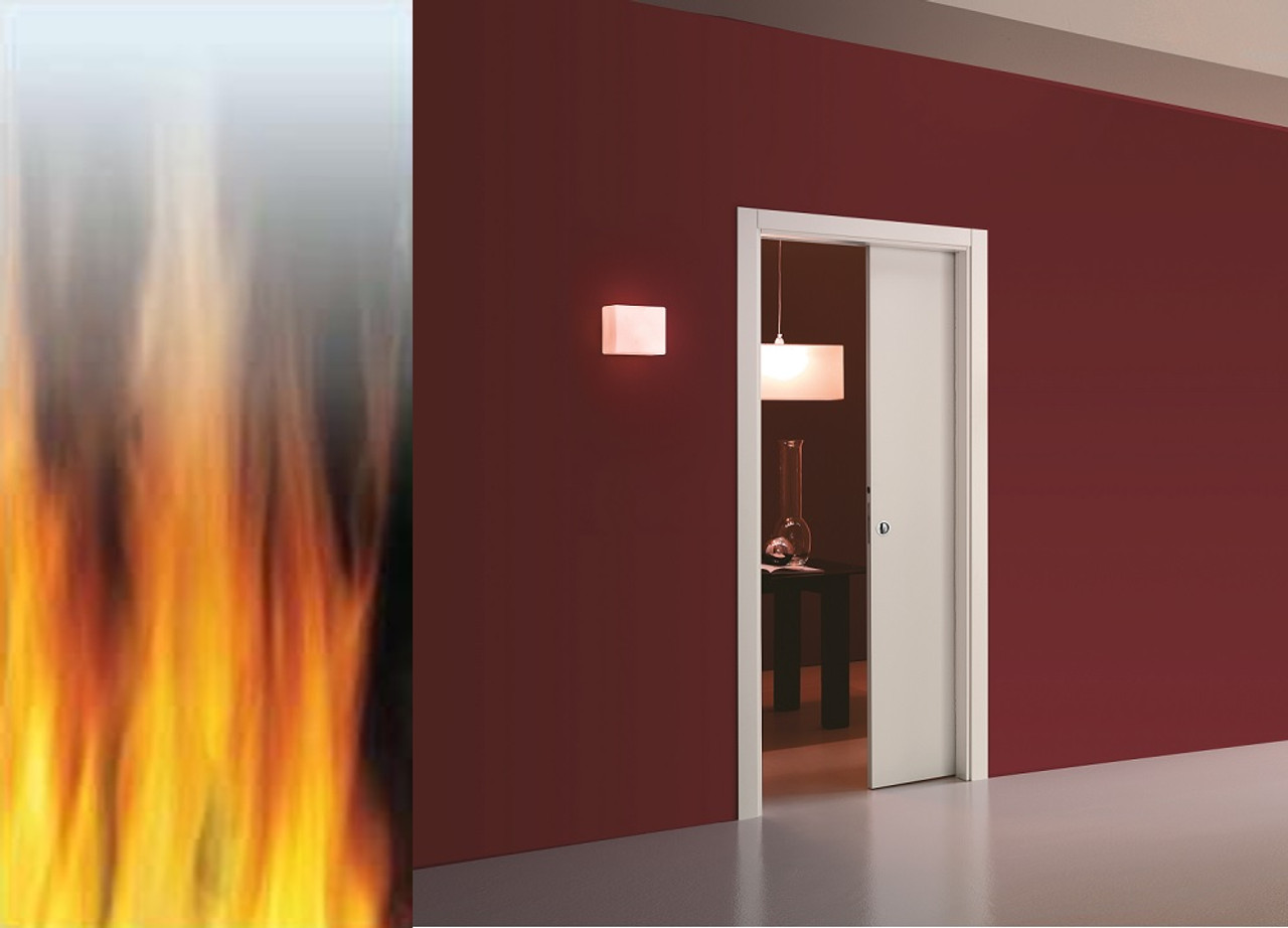 Eclisse single pocket door system fd30 fire rated easy for Fire rated doors