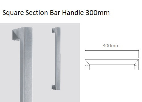 Square Section Bar Handle 300mm