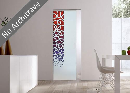 Syntesis® Flush Glass Pocket Door System Handpainted SARETA