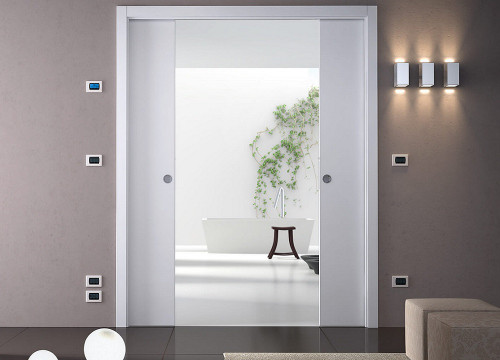 Classic Double Pocket Door System - WIRING-READY
