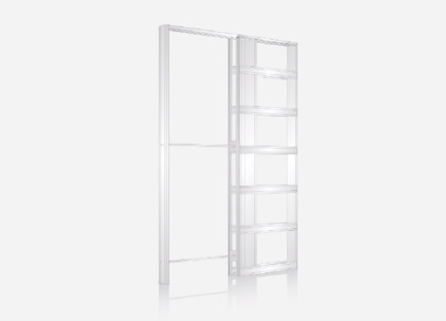 Eclisse SINGLE wiring-ready sliding pocket door system