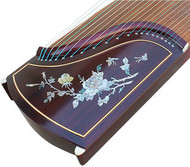 Kaufen Acheter Achat Kopen Buy Professional Peony Carved Purple Sandalwood Guzheng Instrument Chinese Harp